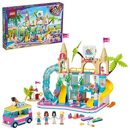 LEGO 41430 Friends Wasserpark von Heartlake City, Spielset mit Mini Puppen Stephanie, Emma und Olivia, Sommerferien-Serie
