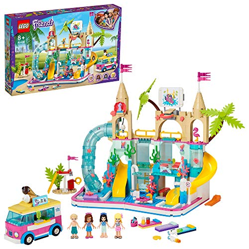 LEGO 41430 Friends Parque Acuático Summer Fun, Set de Construcción con Mini Figuras