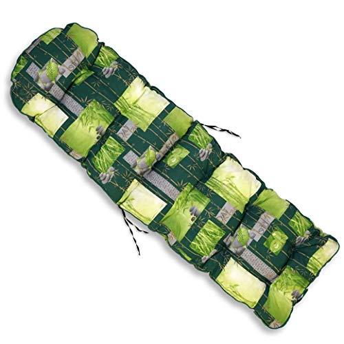 TECNOWEB Cuscino Arrotondato per Sdraio con poggiapiedi - 100% Made in Italy - Ricambio Cuscino Ideale per Sdraio da Giardino - Disponibili Diversi Co