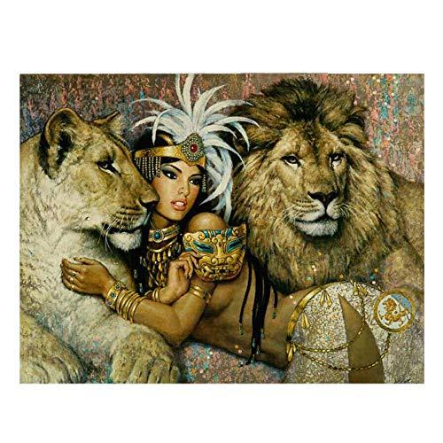 QIDI 2000 Piezas de la Pintura al óleo for Adultos Rompecabezas de Madera Africana Tribal del Rompecabezas Juguetes educativos Animal carácter del Paisaje (Size : 1500 Pieces)