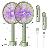 Electric Bug Zapper Racket - YUNLIGHTS 2 Pack 1600mAh USB Rechargeable Fly Swatter, 4000V Mosquito Killer for Indoor...
