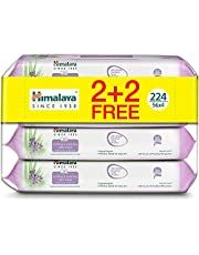 Himalaya Soothing & Protecting Baby Wipes Alcohol & Paraben Free Enriched with Aloe Vera and Lavender Moisturize & Help Protect Your Baby's Sensitive Skin - 224 Wipes.