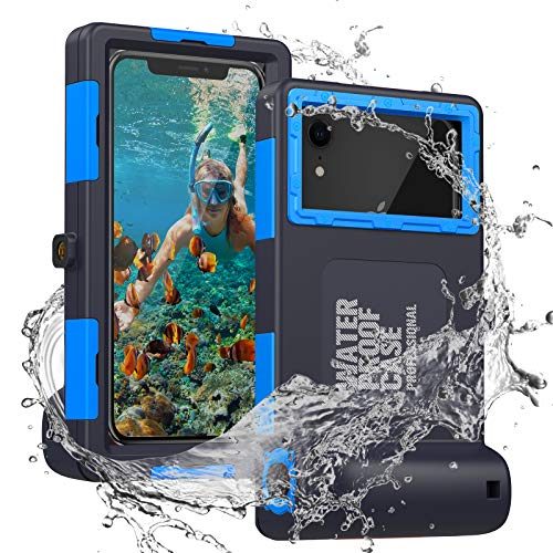 Diving Phone Case for iPhone 12 12Pro 12Mini 11 Pro XR Xs and Samsung Galaxy S10 S10+ Note 10 10+, Professional 50ft Waterproof Phone Cover for Outdoor Surfing Swimming Snorkeling Photo Video