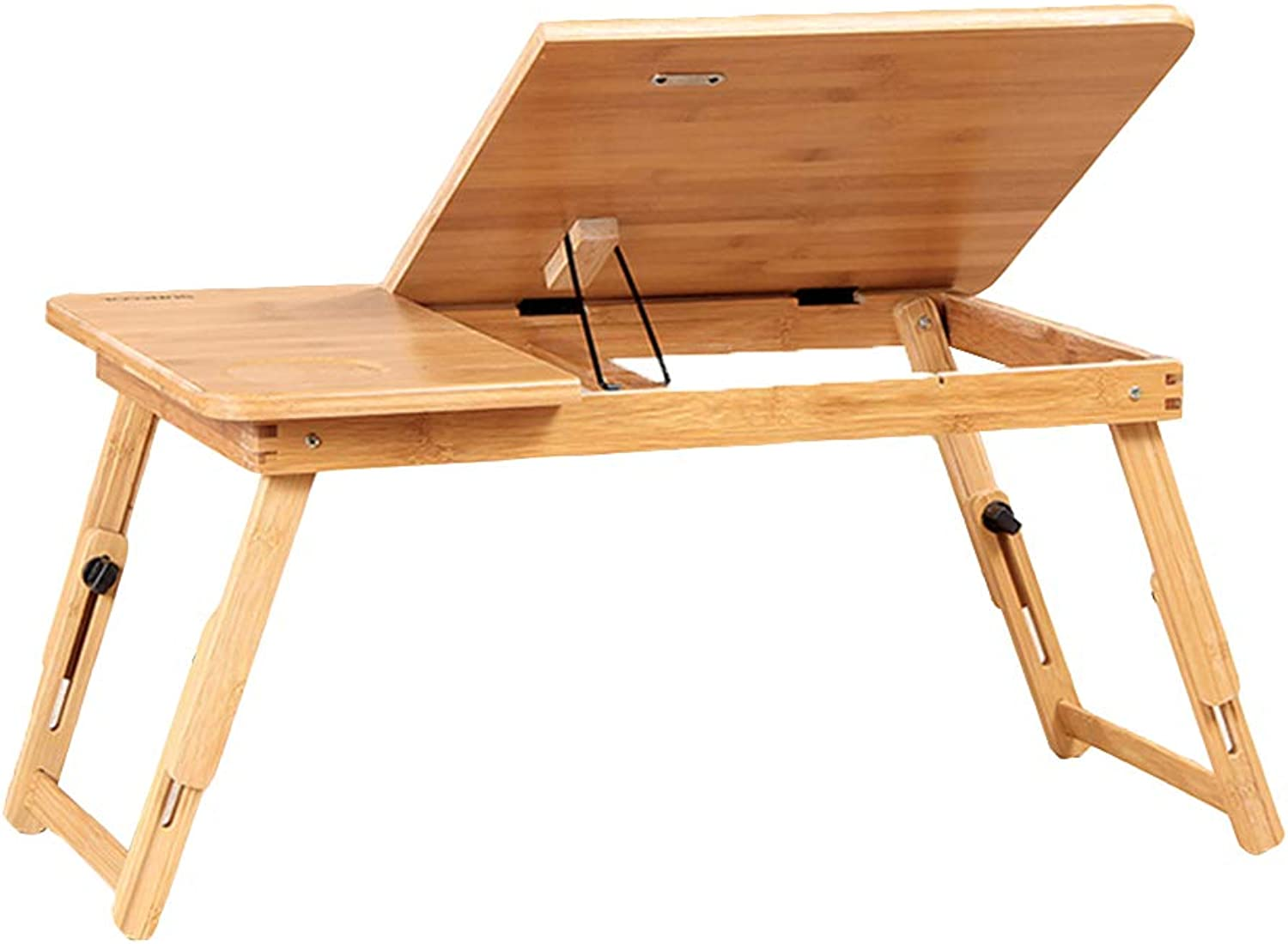 LVZAIXI Portable Folding Laptop Desk with Adjustable Height with Drawers, Multiple Size   (55  34  27cm) Without Drawers