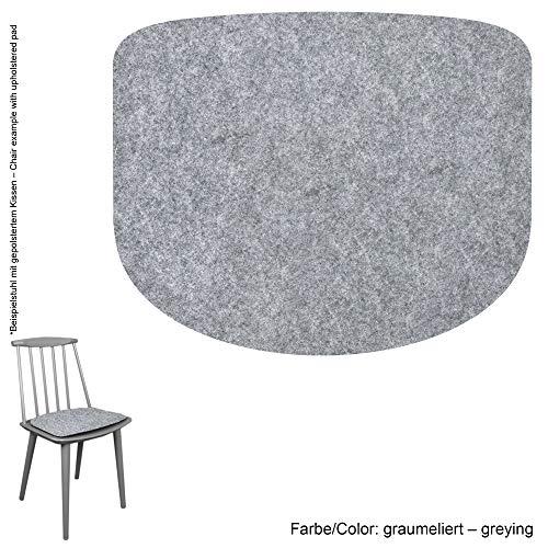 Feltd. Eco Filz Auflage 4mm Simple - geeignet für Hay - Modell J77 // 29 Farben inkl. Antirutschunterlage (Graumeliert)