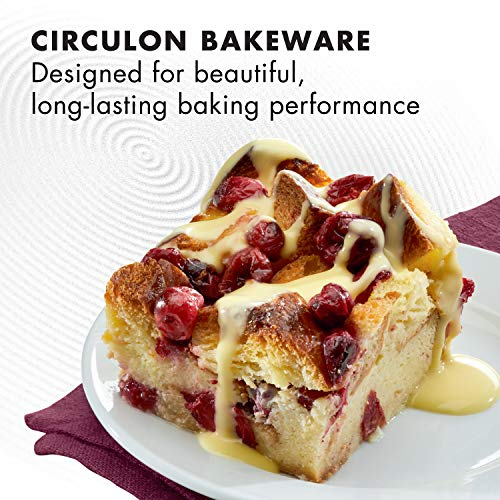 Circulon Nonstick Bakeware Baking Pan / Nonstick Cake Pan, Rectangle - 9 Inch x 13 Inch, Red