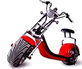 WesternPacific 2000W Electric Wide Fat Tire Scooter Chopper/Harley Design CityCoco Bike (Oxblood Red)