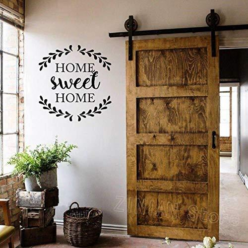 Süße Heimatstadt Zitat Aufkleber Hauptdekoration Tür antike Hütte Wandaufkleber Vinyl kreative Familienhaus Dekoration |Wandaufkleber42X44 cm