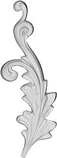 "Ekena Millwork ONL04X10X01RB-R 3 5/8""W x 9 1/2""H x 7/8""P Robin Scroll Onlay, Right, White"