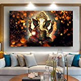 Peinture sans Cadre Mur Art Maître Ganesha Bouddha Statue Peinture Décorative Art Religieux Éléphant D'orCGQ8552 30X60cm