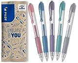 Pilot G2-7 - Bolígrafos de gel (5 unidades, color rosa metálico, azul, morado, verde, plata)