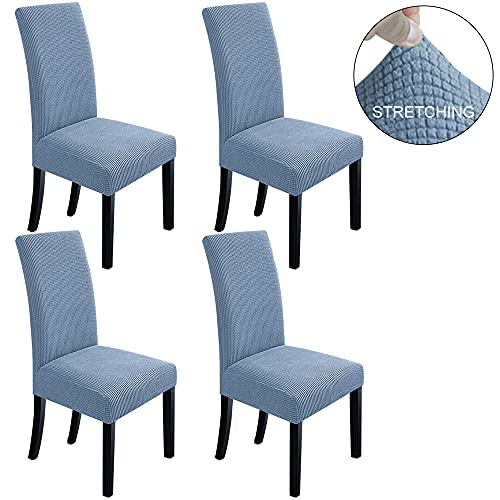 NORTHERN BROTHERS Dining Room Chair Covers Parsons Chair Slipcover Stretch Chair Covers for Dining Room,Kitchen Set of 4,Teal