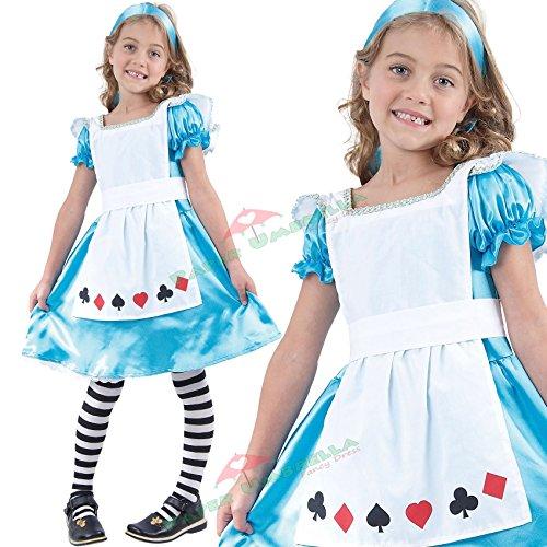 Child U37 793 Costume de Alice au Pays des merveilles pour fille Taille 7 – 9 ans