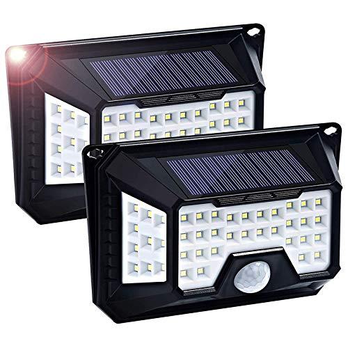 SODIAL 66 LED Solar Motion Lights Outdoor, Bewegungssensorlicht Von 4 Seiten 3 Optionalen Modi, 270 Grad Weitwinkel, IP65 Wasserdichte Sicherheitsbeleuchtung Nachtlicht für HaustüR