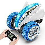 joylink Coche Teledirigido, 2.4GHz Stunt RC Coche Acrobacia Rotación Volteo de 360 ° Coche de Control Remoto Electric Juguetes con 9 Tipos de Minijuegos Juguetes para Niños (Azul)