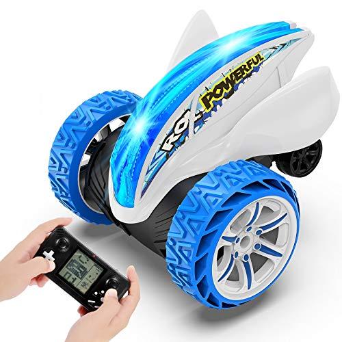 joylink Ferngesteuertes Auto, 2.4Ghz RC Stunt Auto Ferngesteuerter Buggy Auto mit LED-Licht 360° Rotation...