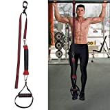 Pull Up Assist Band, Fitness Powerlifting Stretch Resistance Bands with Foot Handle Exercise Strap to Improve Arm, Shoulders, Chest and Abdomen Strength