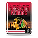 NHL Hi-RES Metal Parking Sign, Uomo, Chicago Blackhawks