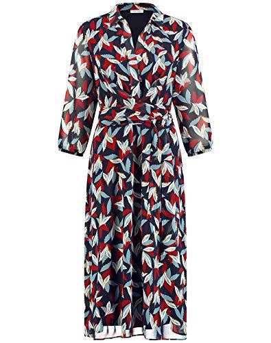 Gerry Weber Damen 280001-38026 Kleid, Mehrfarbig (Indigo Rost Bleu Druck 8252), (Herstellergröße: 40)
