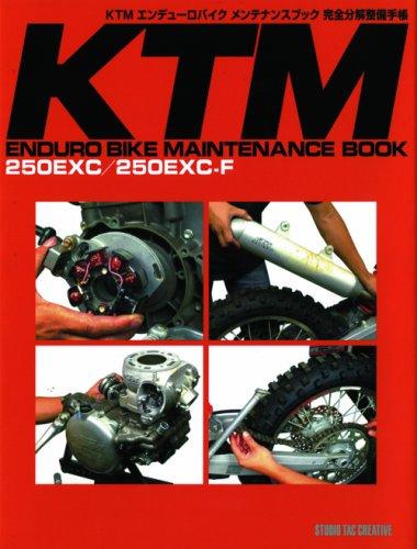 KTM Enduro Bike Maintenance Handbook Complete Decomposition Maintenance Book-250 Exc/250 Excーf