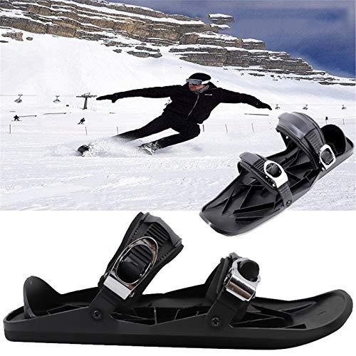 LEVORYEOU Schneeschuhe,Skischuh,Schneeschuhe Aluminium Rahmen Damen Herren,Für Snowboarder,Leichte Schneeschuhe,Winter Sport Zubehör,Ideal Für Familien Männer, Frauen Und Kinder,Schwarz