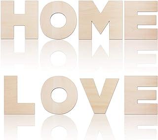 n VOSAREA Holzbuchstaben Plakette Wand B/üro zu Hause Hochzeitsfeier Dekoration