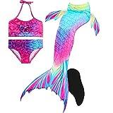 Decool Meerjungfrauenschwanz zum Schwimmen mit Meerjungfrau Flosse-Prinzessin Cosplay Bademode für