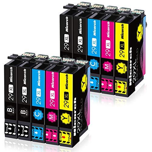 Hicorch 29XL Cartucce d'inchiostro Compatibile con Epson 29 XL per Epson Expression Home XP-235 XP-245 XP-255 XP-247 XP-332 XP-342 XP-345 XP-432 XP-442 XP-445 (4 Nero,2 Ciano,2 Magenta,2 Giallo)