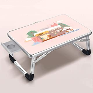 Laptop Bed Table Folding Lap Standing Desk for Bed and Sofa Laptop Lap Desk Breakfast Serving Tray Notebook Stand Reading ...