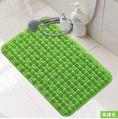 zfq Badezimmer Anti-schlittschuhmahl-fadeln Dusche Wc Toilette Badewanne Zu Hause Anti-Schleuder Matte Bad Schleuderschutz 78cm*46cm Real Green