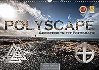 Polyscape - Geometrie trifft Fotografie (Wandkalender 2022 DIN A3 quer): Geometrische Formen multipliziert mit Fotografie aus Stadt und Landschaft (Monatskalender, 14 Seiten )