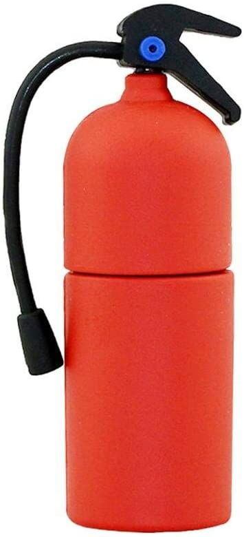 4GB USB 4 years Max 70% OFF warranty 2.0 Flash Drive Novelty Shape Extinguisher Fire Pen Red