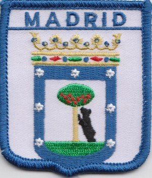 1000 Flags Madrid Spanien Flagge Bestickt Patch Badge