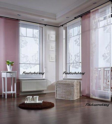 Viora Flächenvorhang Sylt- weiß-45 cm Meterware (ohne abgebildetes Stangenmaterial)
