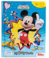 ミッキーマウス クラブハウス 絵本 豪華付録 ミニフィギュア12個&プレイマット! マイビジーブック Mickey Mouse Clubhouse 12 mini figures&playmat