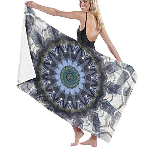 Rterss grote badhanddoeken badhanddoek set zacht zeer absorberend unisex geschikt voor badkamer zwembad strand caleidoscoop aanlegbare fractale optische illusie aangepast