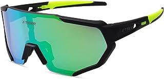 X-TIGER Lunettes de Cyclisme Lunettes de Sport Polarisées avec 3 ou 5 Verres Interchangeables Protection UV400 Lunettes de...