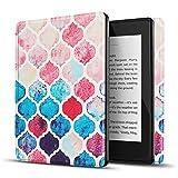 TNP Funda Protectora para Amazon Kindle Paperwhite 10a Generación 2018/2019/2020, Carcasa Inteligente Delgada y Ligera de Cuero con Función de Auto-Sueño para E-Reader (Pastel Marroquí)
