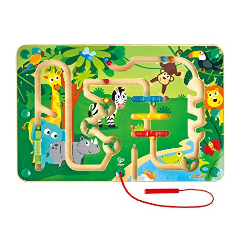 Hape- Wooden Jungle Maze Laberinto magnético de Madera (E1714A)