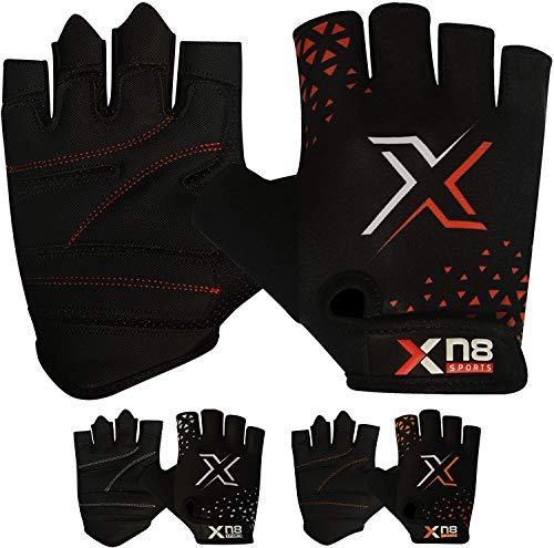 XN8 Gewichtheber Handschuhe - Gym Fitness handschuh - rutschfest gepolstert - Perfekt für Klimmzüge, Bodybuilding, Powerlifting, Handschutz
