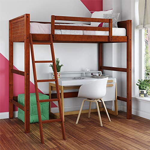 Dorel Living Moon Bay Loft Bed, Twin, Walnut