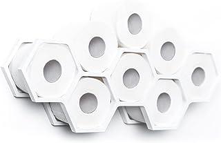Toiletpapierhouder Badkamer Plank Badkamer Decor Toiletpapier Plank Houten Houder voor Toiletpapier Honingraat (Wit)