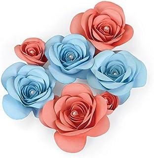 Sizzix 660831 Outil pour Scrapbooking Thinlits Plus Fleur 3D Oiseaux Amoureux Gris