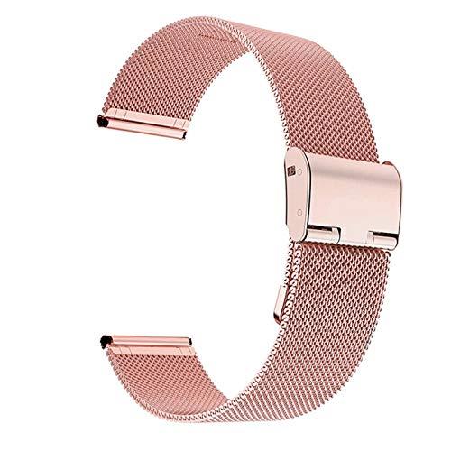 DALIANMAO Cintas de Relojes Straps de Acero inoxidable22mm 20mm de Reloj de Reloj (Band Color : Pink, Band Width : 20mm)