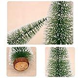 Bogoro 4 Mini Weihnachtsbaum Künstlicher, Mini Weihnachtsbäume Schneetanne, Mini Tannenbaum Christbaum mit Ständer Weihnachtsdeko Weihnachten Tischdeko Winterdeko Decoration - 2