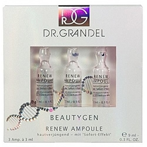 Dr. Grandel Beauty-gen Renew Ampoule 3x3 Ml. Slows the Aging Process. Conceals Wrinkles and Irregularitie. Leaves the Skin Shine in New Splendor