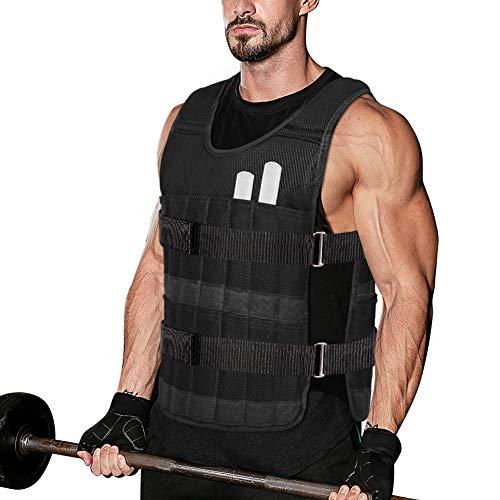 Chaleco deportivo con pesas - Chaqueta de entrenamiento de fuerza de 10KG Chaleco de pesas Oxford duradero, con pesas metálicas extraíbles para entrenamiento de fuerza Entrenamiento para correr