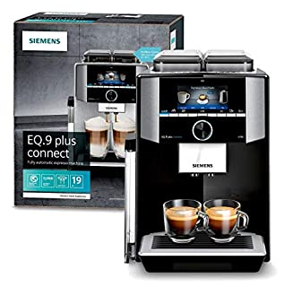 Siemens EQ.9 s700 Independiente Máquina espresso 2,3 L - Cafetera (Independiente, Máquina espresso, 2,3 L, Molinillo integrado, 1500 W, Negro, Acero inoxidable) (B07QMGR4MP) | Amazon price tracker / tracking, Amazon price history charts, Amazon price watches, Amazon price drop alerts