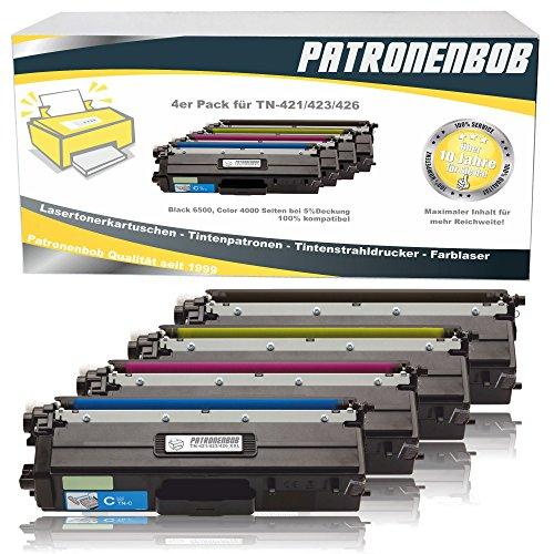 Patronenbob® - 4 cartucce toner XL, compatibili con TN-421 / TN-423, per Brother DCP-L8410CDW, HL-L8260CDW, HL-L8360CDW, MFC-L8690CDW, MFC-L8900CDW