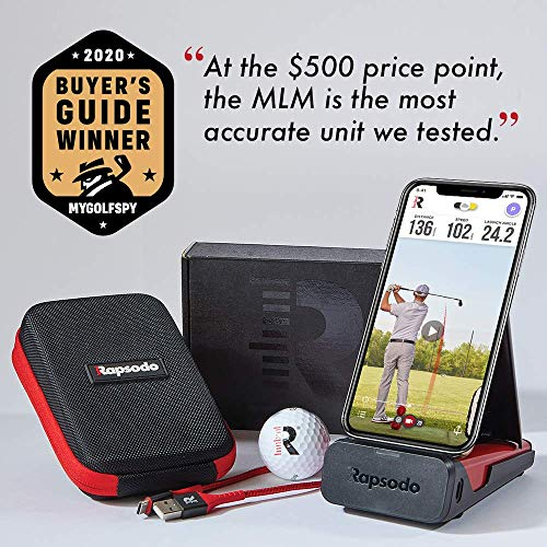 """Rapsodo Mobile Launch Monitor for Golf   Pro-Level Accuracy   Video Replay   Shot Trace   """"Best Outdoor Golf Launch Monitor Under $500""""   """"Official Launch Monitor of Golf Digest""""   iOS Only"""